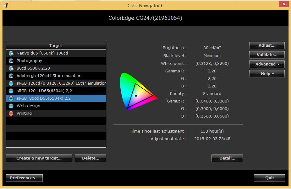 Eizo ColorNavigator6