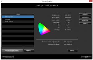Eizo cg248 Color Navigator 6